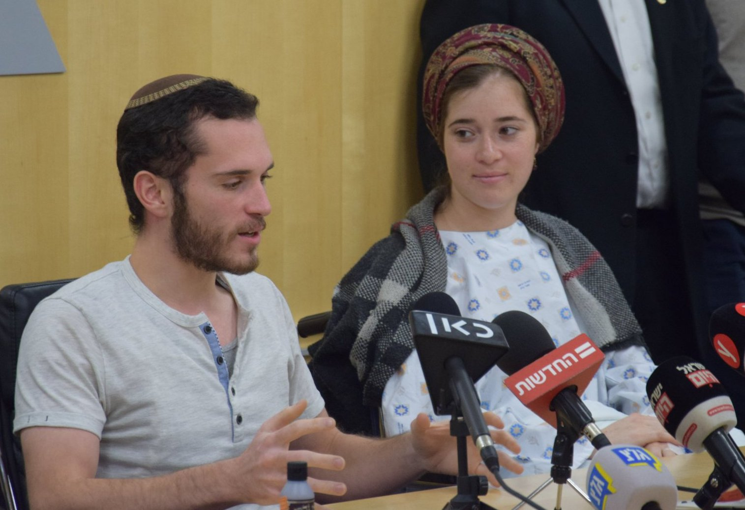 """Ceremony at SZMC for beginning to write Torah scroll in memory of Amiad Israel Ish-Ran z""""l"""