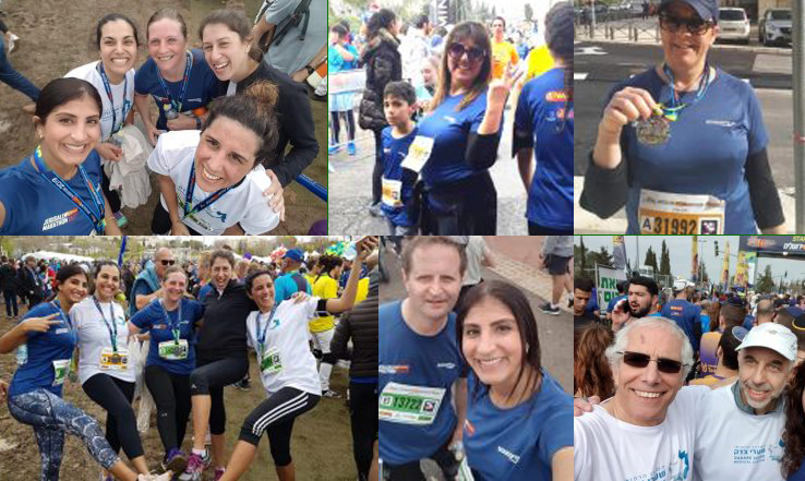 First SZMC Running Group Crosses the Finish Line at the Jerusalem Marathon