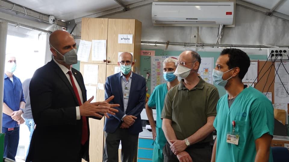 Public Security Minister Amir Ohana visits SZMC