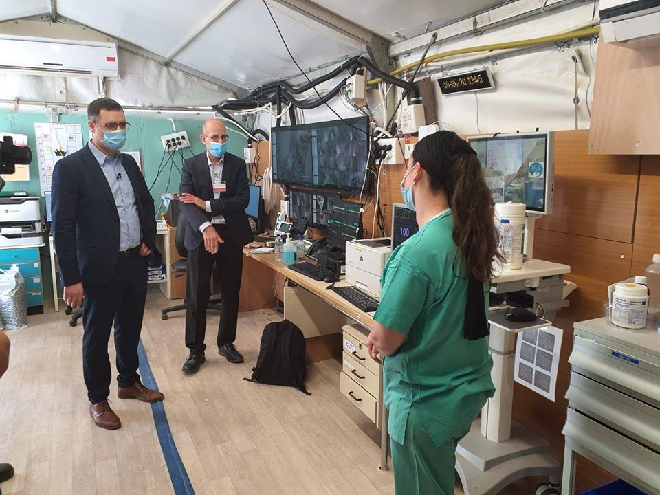 Health Ministry Director General, Moshe Bar Siman-Tov visits SZMC