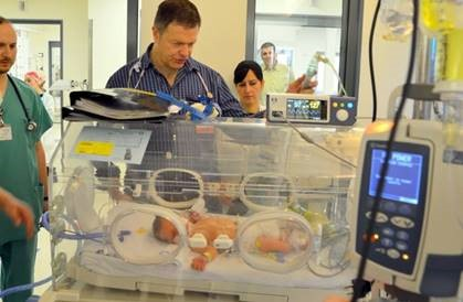 Jerusalem baby makes history at Shaare Zedek